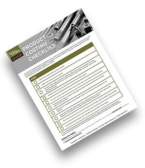 Manufacturing Product Costing Check List