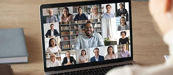 virtual work meeting